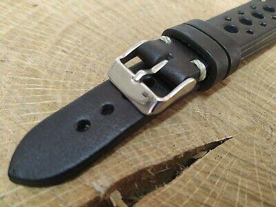 Correa Reloj Artesana en Piel.Color Negro.Por encargo, a elegir 3