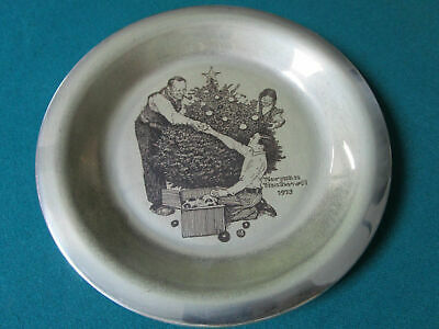 """Sterling 925 PLATES NORMAN ROCKWELL CHRISTMAS FRANKLIN MINT 8"""" -1971/75 - PICK 1 8"""