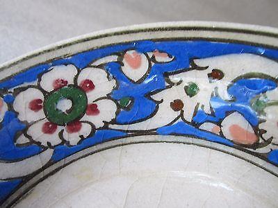Beautiful Antique Iznik Turkish Ottoman Faience Pottery Hand Painted Bowl 4