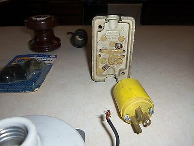 Large Lot of Used Early Electrical Items 4