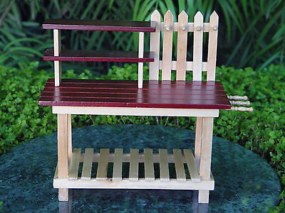 Surprising Miniature Dollhouse Fairy Garden Furniture Wood Workbench Ncnpc Chair Design For Home Ncnpcorg