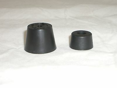 Budwig L6B-Tf6T Radio Cabinet Plastic Riser Rubber & Feet For Collins Heathkit