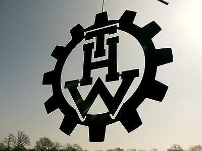 LOGO aus Stahl, --THW-- Technisches Hilfswerk D=40cm 3mm Hilfsorganisationen 2