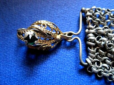 OTTOMAN SILVER Adornment KYUSTEK or PENDANT & STONE , Hand crafted chains 6