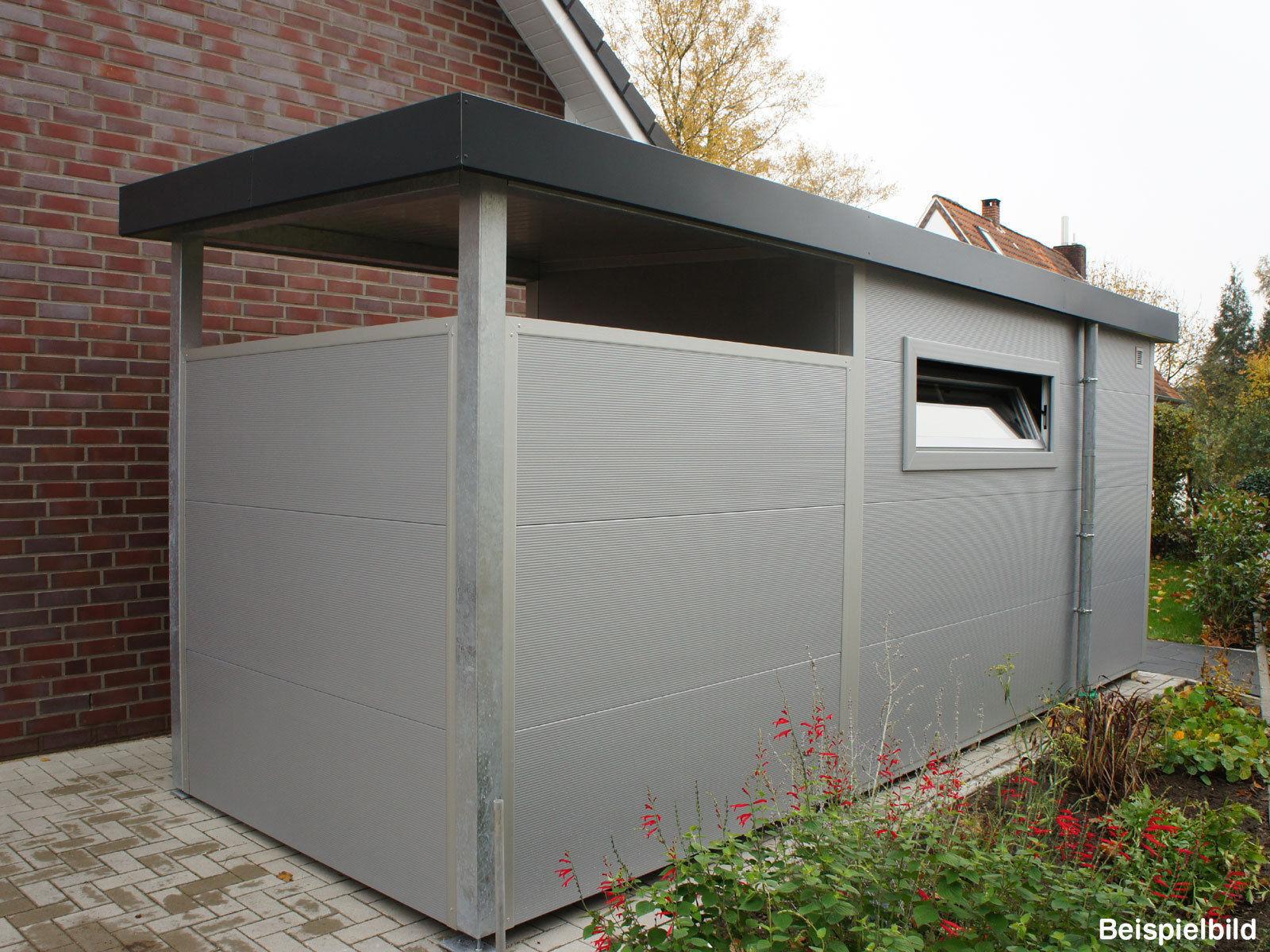 Sehr GO-ISO - HOCHWERTIGES Gartenhaus isoliert - weißaluminium - 6,00 x NC33