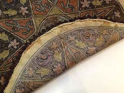 1880's ultra Antique Embroidery Ottoman Tughra Metallic Thread Turkish Tinsel 8