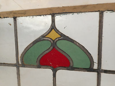Vintage Stained Glass Window Panel (3179)NJ 4