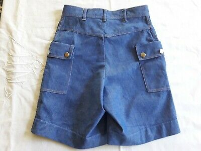 Short Bermuda jean chambray enfant 9a VINTAGE 70 CHILD DENIM BERMUDA SHORTS 9Y 3