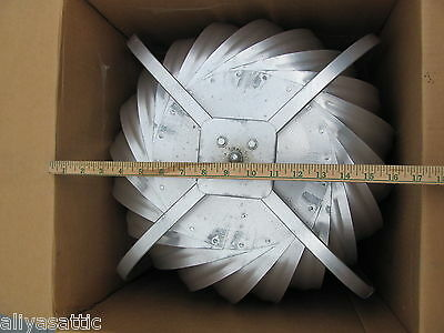 "Quality Wind Turbine Cooling Fan Roof Mount NOS Wisper Cool Made in USA 12"" V 11"