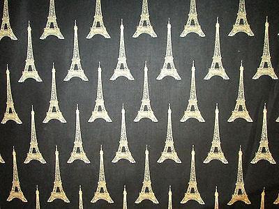 Cotton Fabric FQ France Paris Eiffel Tower Print Clothes Quilting Patchwork VK25