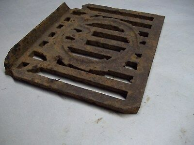 Broken part of antique furnace or stove vent or grate ? with design 12
