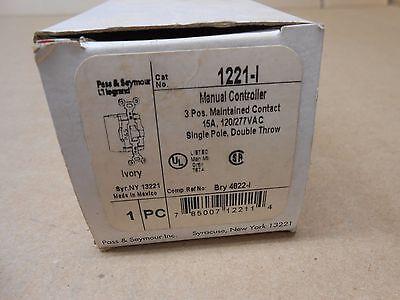 Nib Pass & Seymour 1221-I Manual Controller 15A 120/277Vac 1Pole Ivory(3 Avail) 2