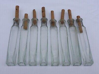 2 x alte kleine Medizin Glas Apotheke Apotheker Flasche grün lang ca. 9,5 cm 2