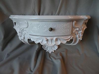 Wall Console Antique/Spiegelkonsolen/Baroque White High Gloss B: 50cm cp84 5