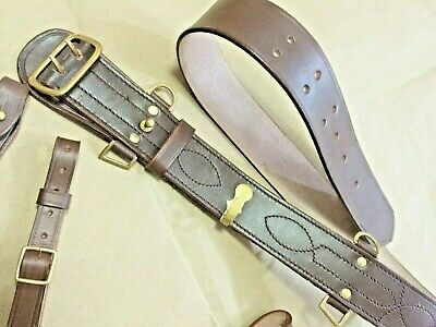 Shoulder Strap Black Sam Browne Brace Only Black Leather Chrome R1636