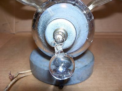 Antique Glass Wall Sconce -- 2 Glass Arms With Bobeche 11 • CAD $125.84