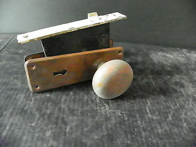 Antique Interor Yale Lock With Plates And Knobs 6307 2