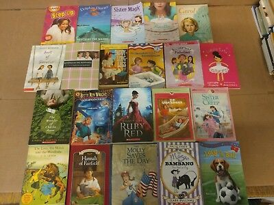 Lot of 20 Chapter Books for GIRLS Youth Early Reader Young Adult Children RANDOM 8