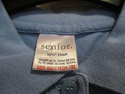 """Girls pale blue sportswear tops """" AGE 12/13 ."""" ( SET OF 2 ) school wear. 2"""