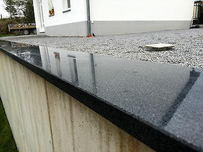 mauerabdeckung abdeckplatte pfeilerabdeckung granit naturstein dunkel stein neu eur 44 99. Black Bedroom Furniture Sets. Home Design Ideas