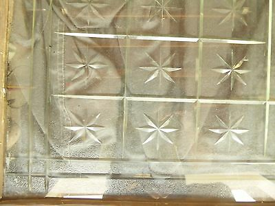 Antique American Cut Star Burst Heavy Glass Window - VERY RARE 2