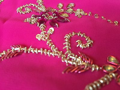 Saree- Bollywood Fashion Wedding Party Wear Heavy Designer Sari Indian Asian 3