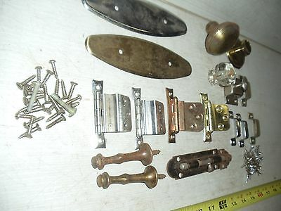 Lot Of Old Vintage Misc. Door Knobs Hinges Latches Pulls Hardware 3