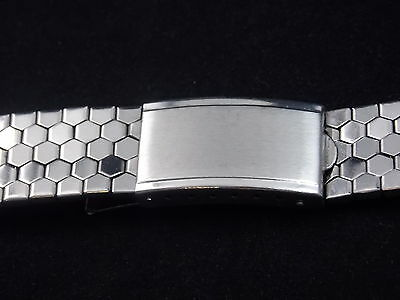 Best Quality Vintage Watch Band Bracelet Mens 18mm Stainles Expansion Deployment 3