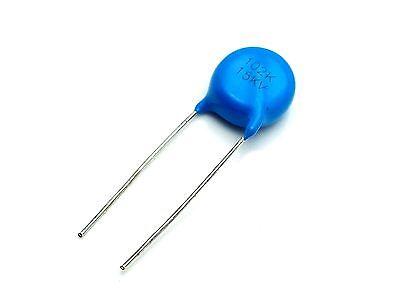 10pcs 0.001uf 1nf 1000pf 102 1000V High Voltage Ceramic Disc Capacitor