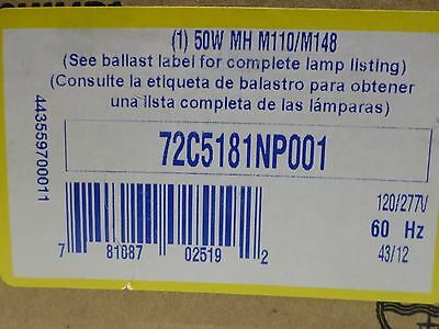 Advance 72C5181-NP HID Lamp Ballast for 50W M110 Metal Halide Lamp 1