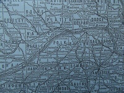 Vintage Map: Nebraska, United States, by Emery Walker, 1926, B/W 4