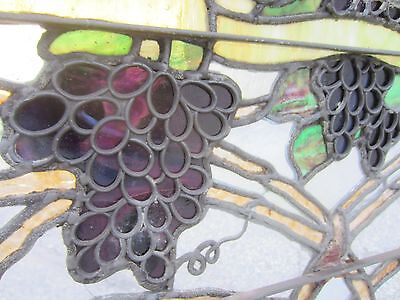 ~ Antique American Stained Glass Window ~ Grapevines ~ Architectural Salvage ~ 10