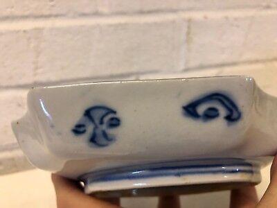 Antique Japanese Imari Porcelain Hand Painted Octagonal Bowl / Ashtray 7