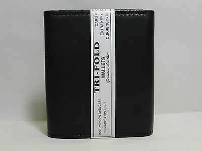 Rfid Blocking Mens Leather Trifold Wallet Id Credit Card Zip Coin Holder 4