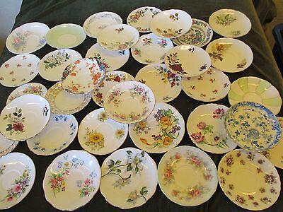 Lovely Job Lot 10 Vintage Mismatch China Saucers Ideal Vintage Parties Tearoom 2