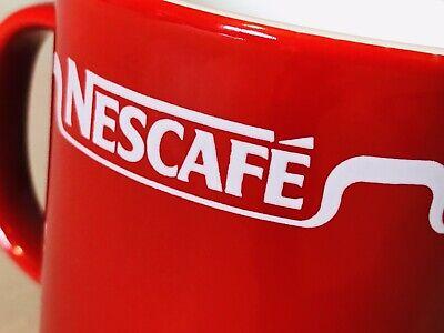 Lot (4) Nescafe Red Mugs, Excellent, HTF Horizontal Logo, Staffordshire England 3