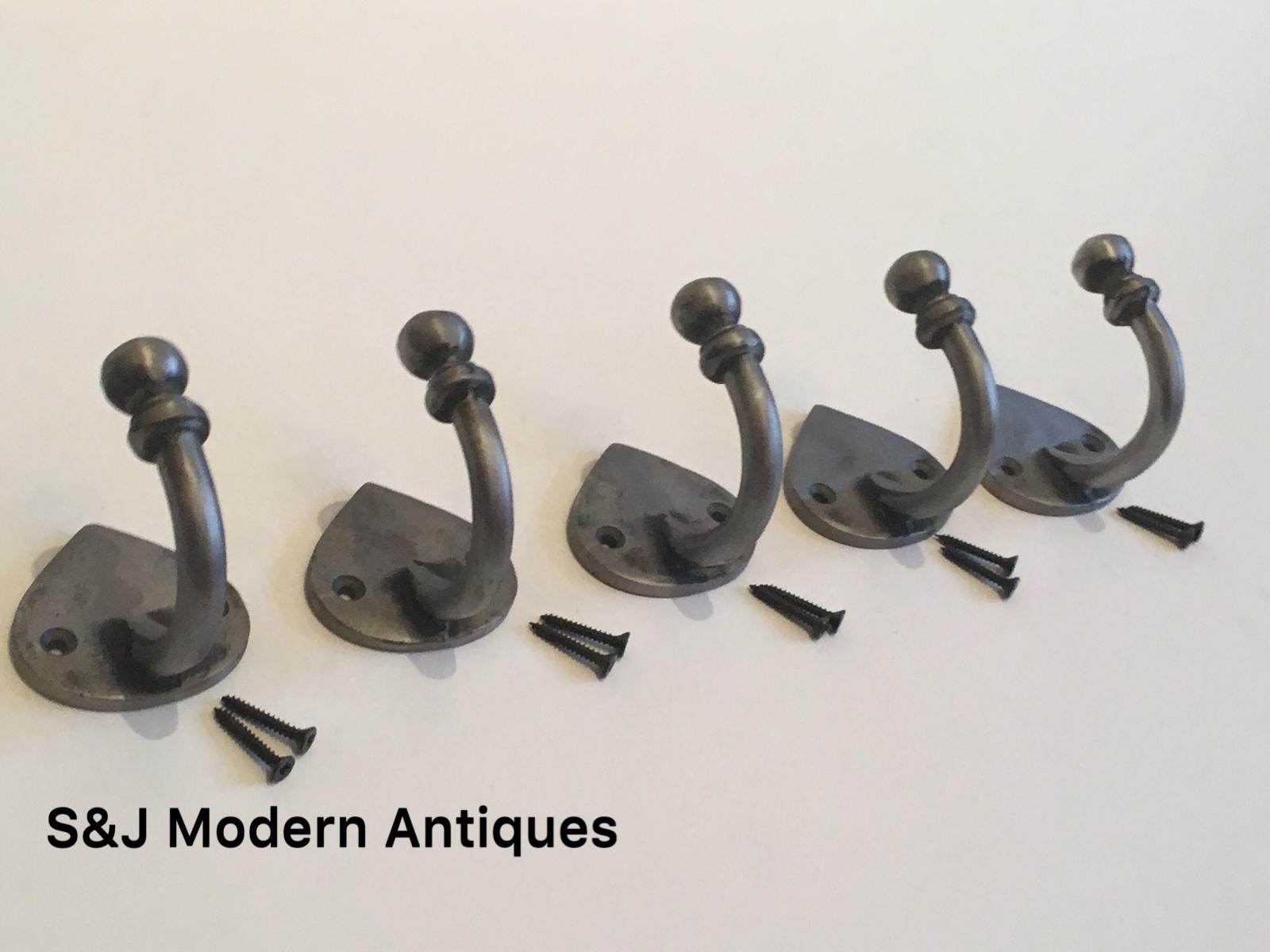 Single Coat Hook Iron Antique Modern Spearhead Vintage Black Grey Hat Rack Set 5 6