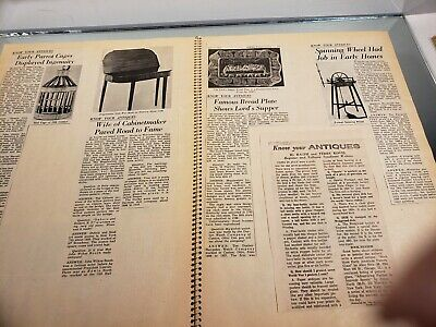 VINTAGE SCRAP BOOK Know Your Antiques/Refinishing /Collections/Newspaper clips 4 8