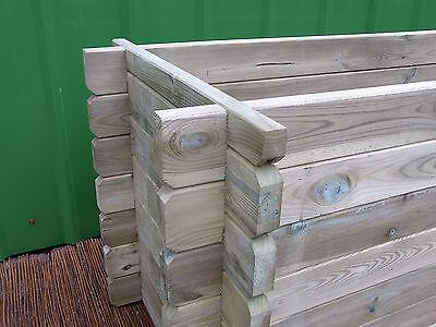 Stabiles Hochbeet Holzkomposter Komposter Pflanzbeet Kiste