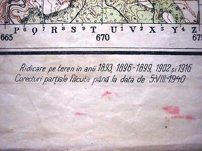 1937 Giurgiu Romania Institutul Geografic Militar Original Vintage Map 8