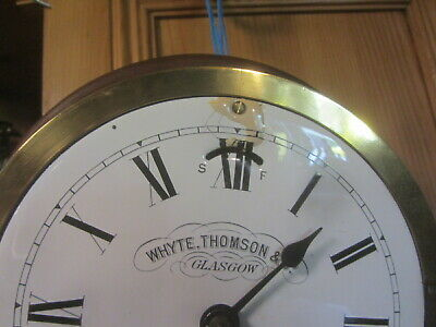 Brass Ships Clock By Whyte Thompson & Co Glasgow 2