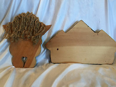 Wooden Yard Folk Art Lawn Or Patio Decorations Bird Houses And  A Holiday Angel 2