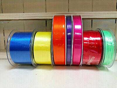 Berisfords Double Satin Ribbon 34 Shades 3mm 7mm 10mm 15mm 25mm 35mm 50mm 70mm 7