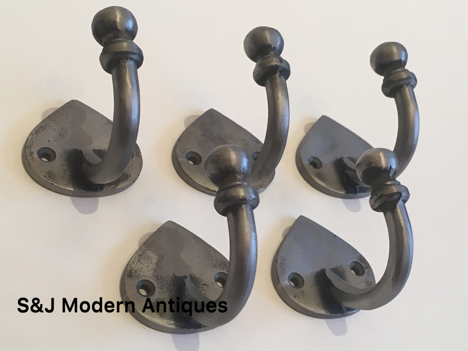 Single Coat Hook Iron Antique Modern Spearhead Vintage Black Grey Hat Rack Set 5 7
