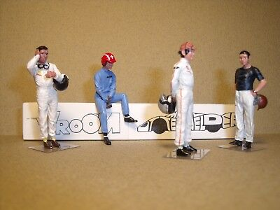 4  FIGURINES 1//43  SET 251  PHOTOGRAPHES  REPORTERS  VROOM  A PEINDRE  UNPAINTED
