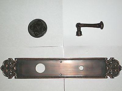Huge Brass Florentine Door Knob Back Plate With Door Knob and  Lever 2