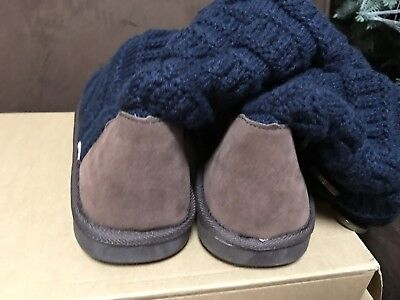 Mukluks Slouch Sweater Boot Size 9 Navy/Brown Warm Fun Super Cute!!! 7