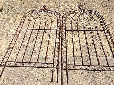 Pair Of Vintage Wrought Iron Garden Trellis Multiple Detailed Patterns @ 6'x3' 5