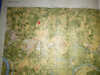 6330 i S - MAP - SAN BAY - CIA AIRFIELD - GIA DINH - Saigon River - Vietnam War