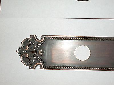 Huge Brass Florentine Door Knob Back Plate With Door Knob and  Lever